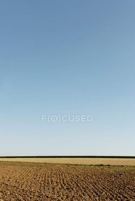 Domaine de campagne arables, l'agriculture — Photo de stock
