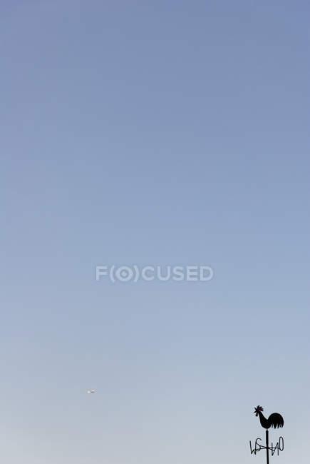 Wetterhahn auf Pin und klarer blauen Himmel — Stockfoto