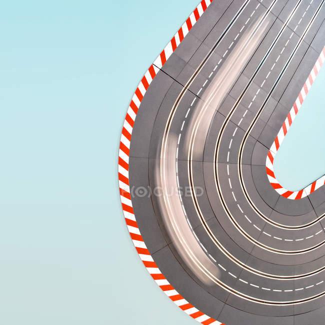 Kurvenwendemanöver für Autorennen — Stockfoto