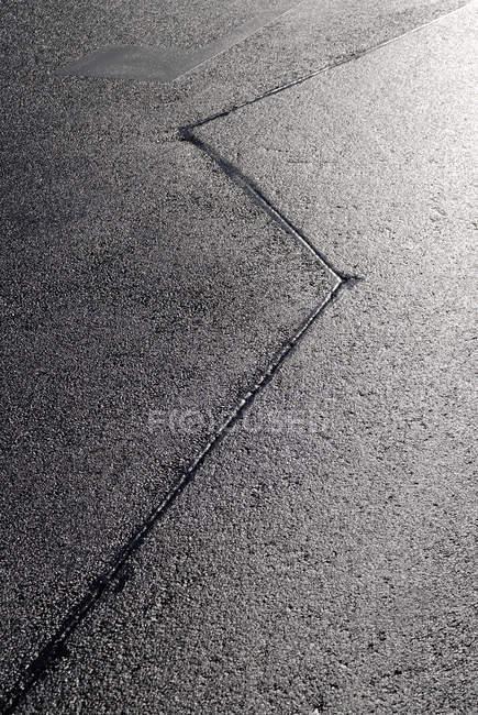 Chaussée d'asphalte gris — Photo de stock