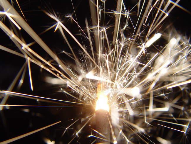 Brillando chispeante, año nuevo víspera - foto de stock