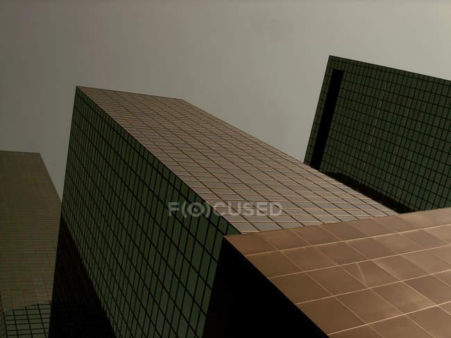 Современное здание фасад, стеклянные небоскребы — стоковое фото