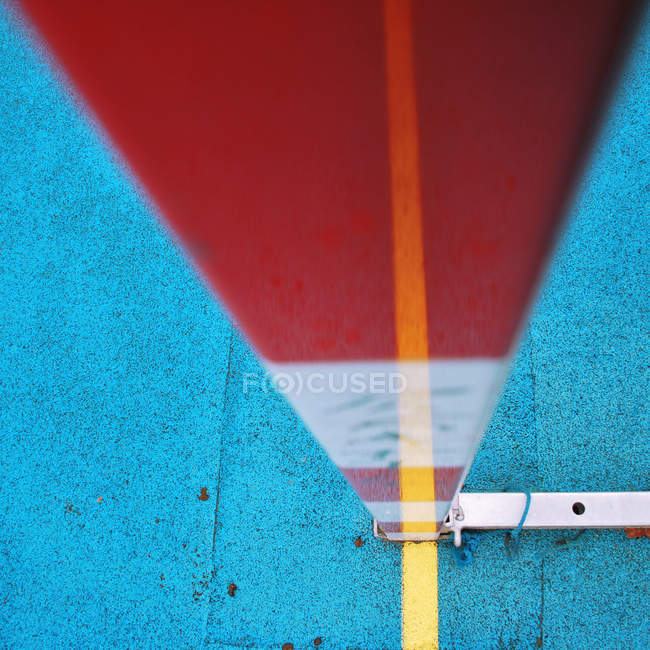Bright blue red colors and shapes in abstract architecture — Stock Photo