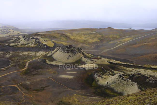 La nature islandaise, paysage d'Islande laugavegur itinéraire trekking — Photo de stock