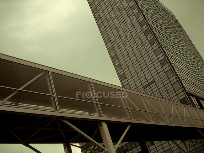 Modern building facade, glass skyscrapers — Stock Photo