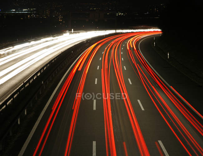 Blurred motions of transport and traffic, automobile drive — Stock Photo