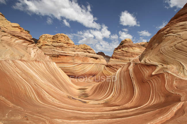 Arizona, Coyote Buttes,  scenic rock formations and Sand Dune — Stock Photo