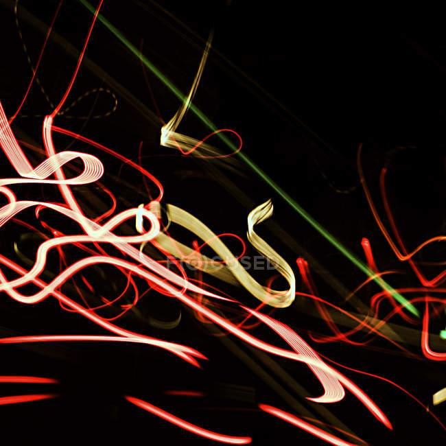 Abstrakte Lichter in dunkler Nacht — Stockfoto