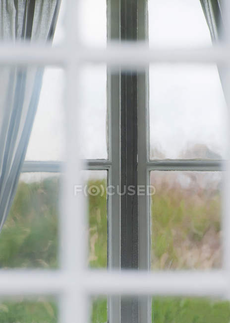 View of transparent window frame — Stock Photo