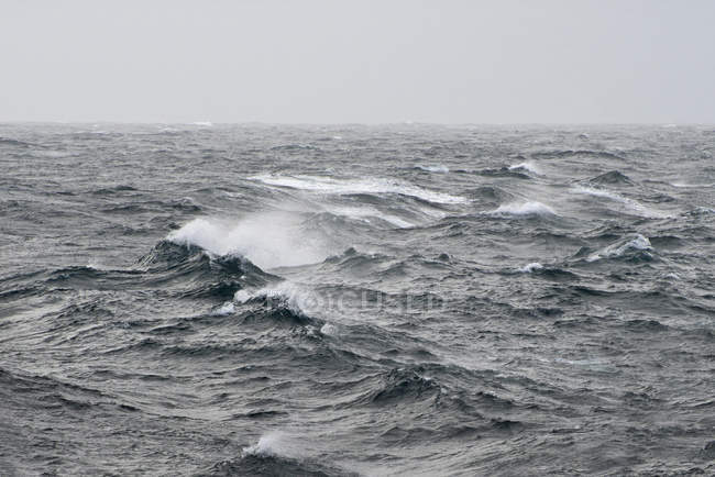 Big waves on sea during a storm — Stock Photo