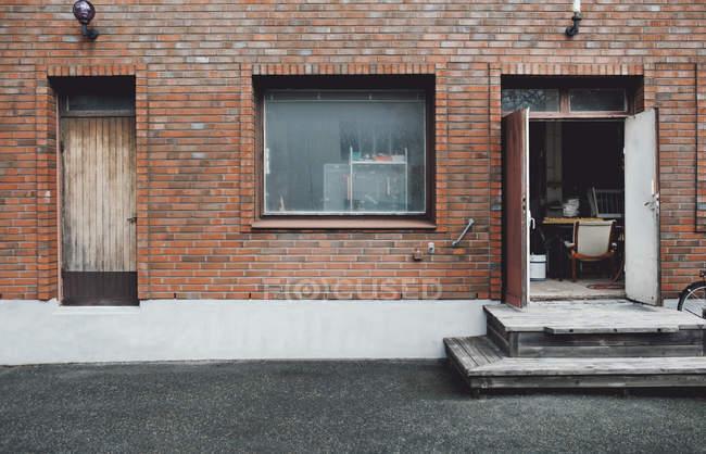 Exterior da oficina na cidade — Fotografia de Stock