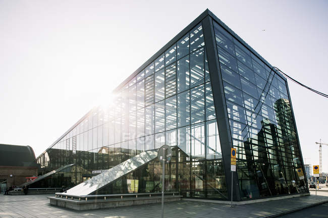 Low angle view of modern glass building — Stock Photo