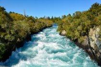 Nova Zelândia, Ilha Norte, Waikato, Wairakei, perto do Lago Taupo, Huka Falls — Fotografia de Stock