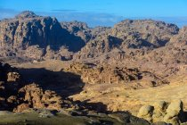 Jordan, Ma 'an Gouvernement, Petra District, A lendária cidade de rock de Petra, paisagem rochosa de cima — Fotografia de Stock