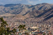 Peru, Cusco, Aerial cityscape view — Stock Photo
