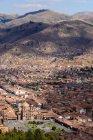Vista aerea citycsape Perù, Cusco, — Foto stock