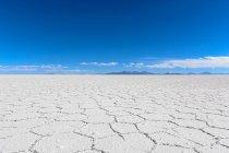Bolivia, Potosi Department, Uyuni, Salar de Uyuni vaschetta del sale sul pianeta — Foto stock