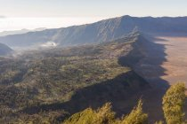 Indonesia, Java Timur, Probolinggo, aerial view of local village at Bromo volcano — Stock Photo