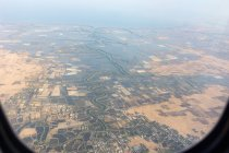 Indonesia, Sulawesi Selatan, Maros, landing approach via Makassar — Stock Photo