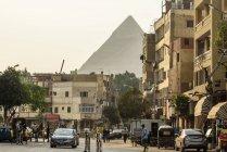 Egitto, Giza Gouvernement, Il Cairo, Il distretto di Gizah vicino alle piramidi — Foto stock