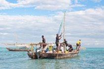 Tanzania, Zanzibar, Nungwi, Dhau ferries, Dhau construction — Stock Photo