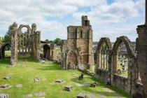 Сполучене Королівство Шотландія Мурена, Elgin, Elgin собору на зеленій галявині трав'янисті — стокове фото