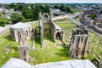 Reino Unido, Escócia, Moray, Elgin, Elgin Catedral de cima — Fotografia de Stock