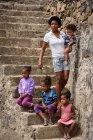 Capo Verde, Santo Antao, Paolo, donna con quattro figli — Foto stock