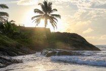 Sri Lanka, provincia meridionale, Bentota, fine del tratto di spiaggia Bentota al Rockside Beach Resort — Foto stock