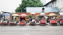 Place Rickshaw à Penang, Georgetown, Pulau Pinang, Malaisie — Photo de stock