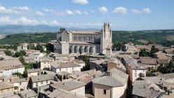Італія, Умбрія, Орв'єто, Орвієто собор пташиного польоту — стокове фото