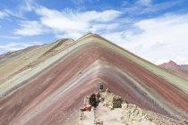 Peru, qosqo, cusco, Wanderung zum Regenbogenberg — Stockfoto