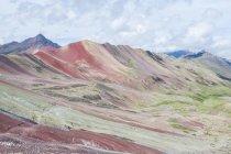 Peru, qosqo, cusco, Wanderung zum Regenbogenberg, malerische Berglandschaft — Stockfoto