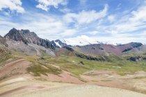 Peru, qosqo, cusco, wanderweg zum regenbogenberg — Stockfoto