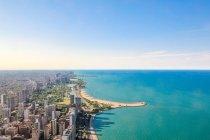 Estados Unidos, Illinois, Chicago, vista aérea del paisaje urbano desde el John Hancock Center North - foto de stock