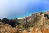 USA, Hawaii, Kapaa, The Kalalau Valley and aerial seascape view — Stock Photo