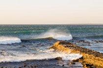 Brise-lames de Western Cape, Cape Town, sur la plage de Cape Town, en Afrique du Sud — Photo de stock
