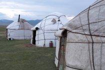 Kirgisistan, Naryn Region, Kochkor District, Yurt Camp — Stockfoto