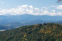 Австрия, Каринтия, Magdalensberg, воздушная горы пейзаж — стоковое фото