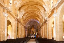 Inside of Catedral de la Purisima Concepcion, Plaza de Armas, Cienfuegos, Cuba — стокове фото