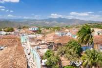 Aerial view of old city at Trinidad, Sancti Spiritus, Cuba — Stock Photo