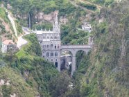 Las Lajas Church in gorge, Ipiales, Narino, Colombia — Photo de stock