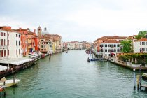Italy, Veneto, Venice, view from bridge on canal — Stock Photo