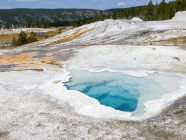 USA, Wyoming, Yellowstone National Park, colorful geology — Stock Photo