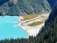 Канада, Альберта, Отдел № 15, панорамный вид на озеро Луиза сверху — стоковое фото
