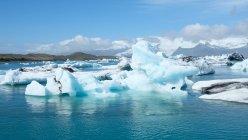 Vista panorâmica da Lagoa do Glaciar Jokulsarlon, Islândia — Fotografia de Stock
