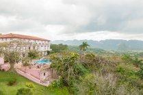 Cuba, Pinar del Rio, Vinales, Hotel Los Jazmines en el Valle de Vinales - foto de stock