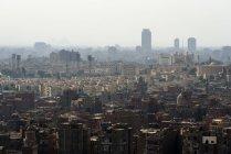 Egipto, El Cairo, El Cairo, Vista aérea de la ciudadela con mezquita de alabastro - foto de stock