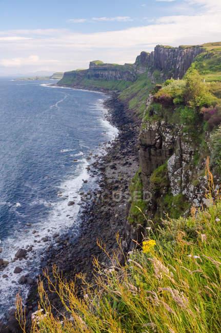 Regno Unito, Scozia, Highland, Isola di Skye, On the Kilt Rock, Kilt Rock — Foto stock