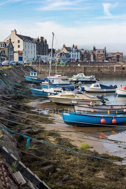 United Kingdom, Scotland, Aberdeenshire, Stonehaven, Port of Stonehaven — Stock Photo